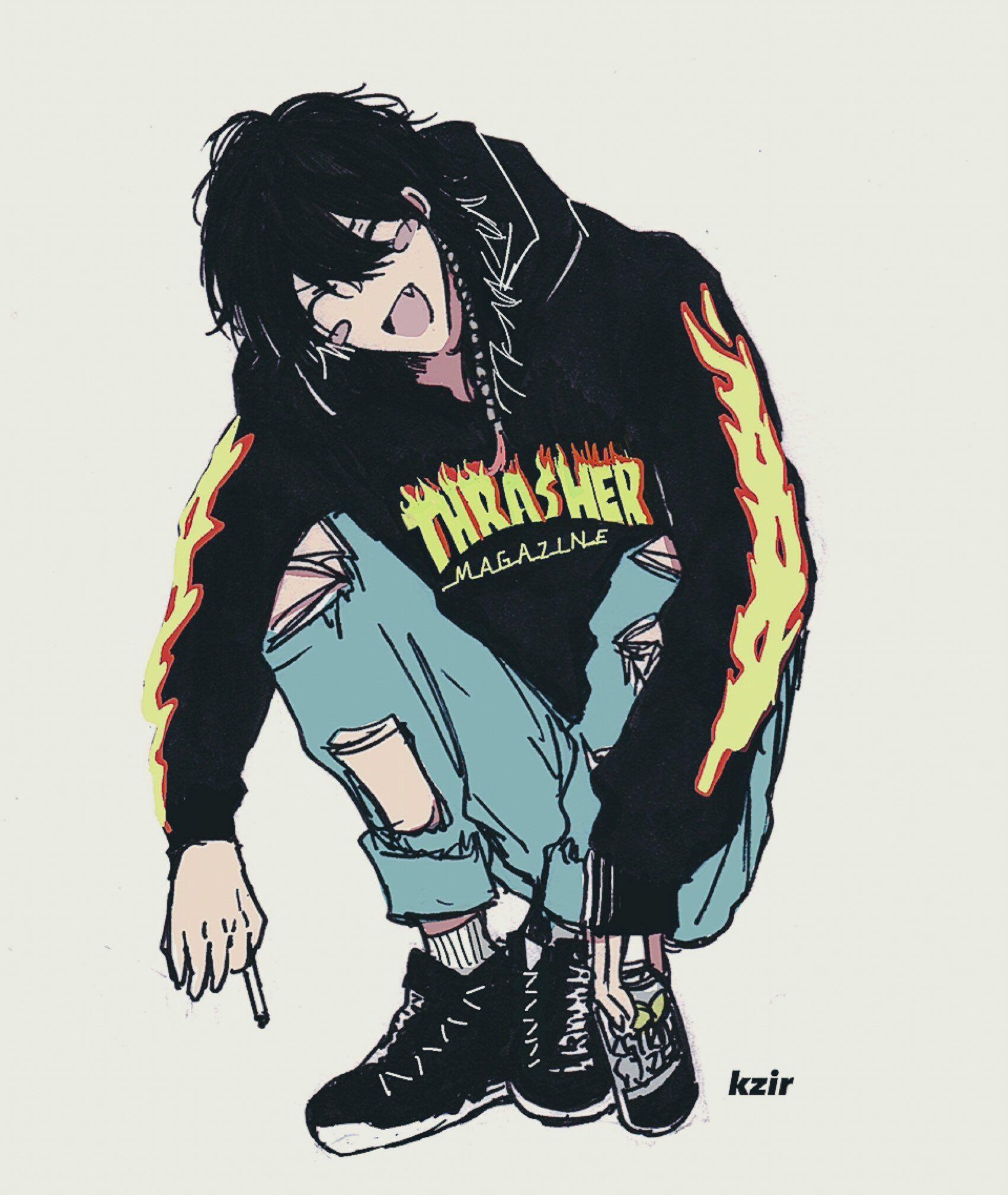 Aesthetic Skate Anime in 2020 | Tomboy art, Anime drawings ...