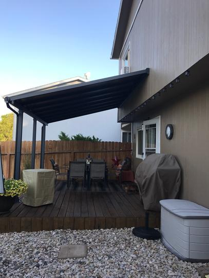 Palram Olympia 10 ft  x 20 ft  Grey/Bronze Patio Cover