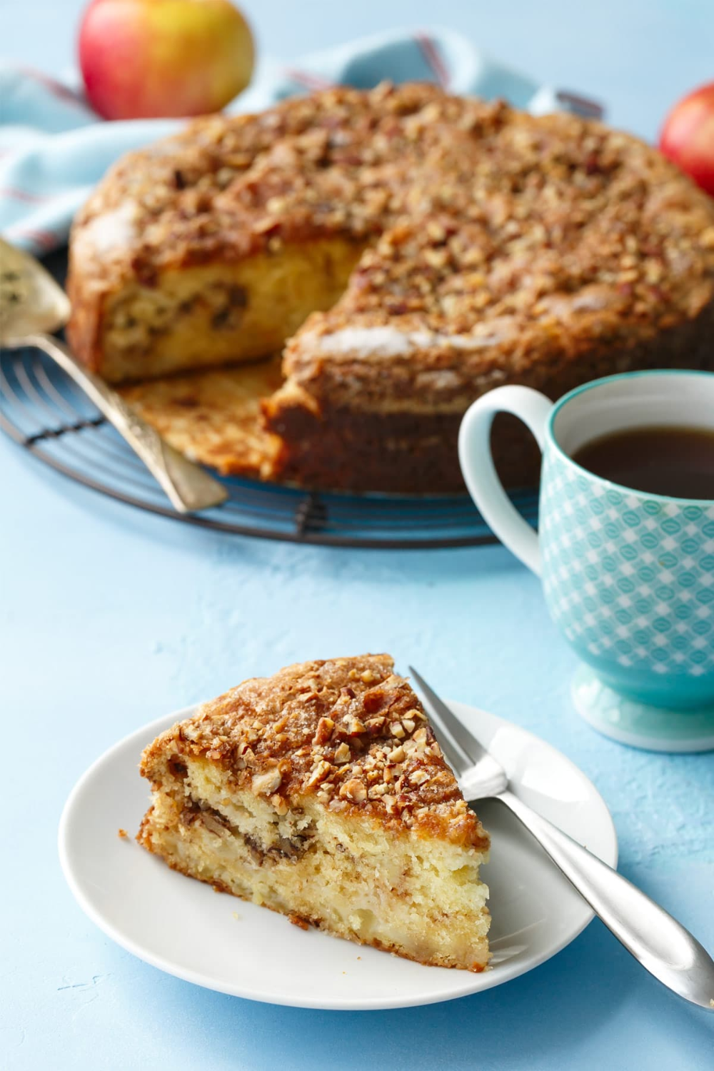 Apple Sour Cream Coffee Cake Love And Olive Oil Recipe In 2020 Sour Cream Coffee Cake Coffee Cake Coffee Cake Recipes