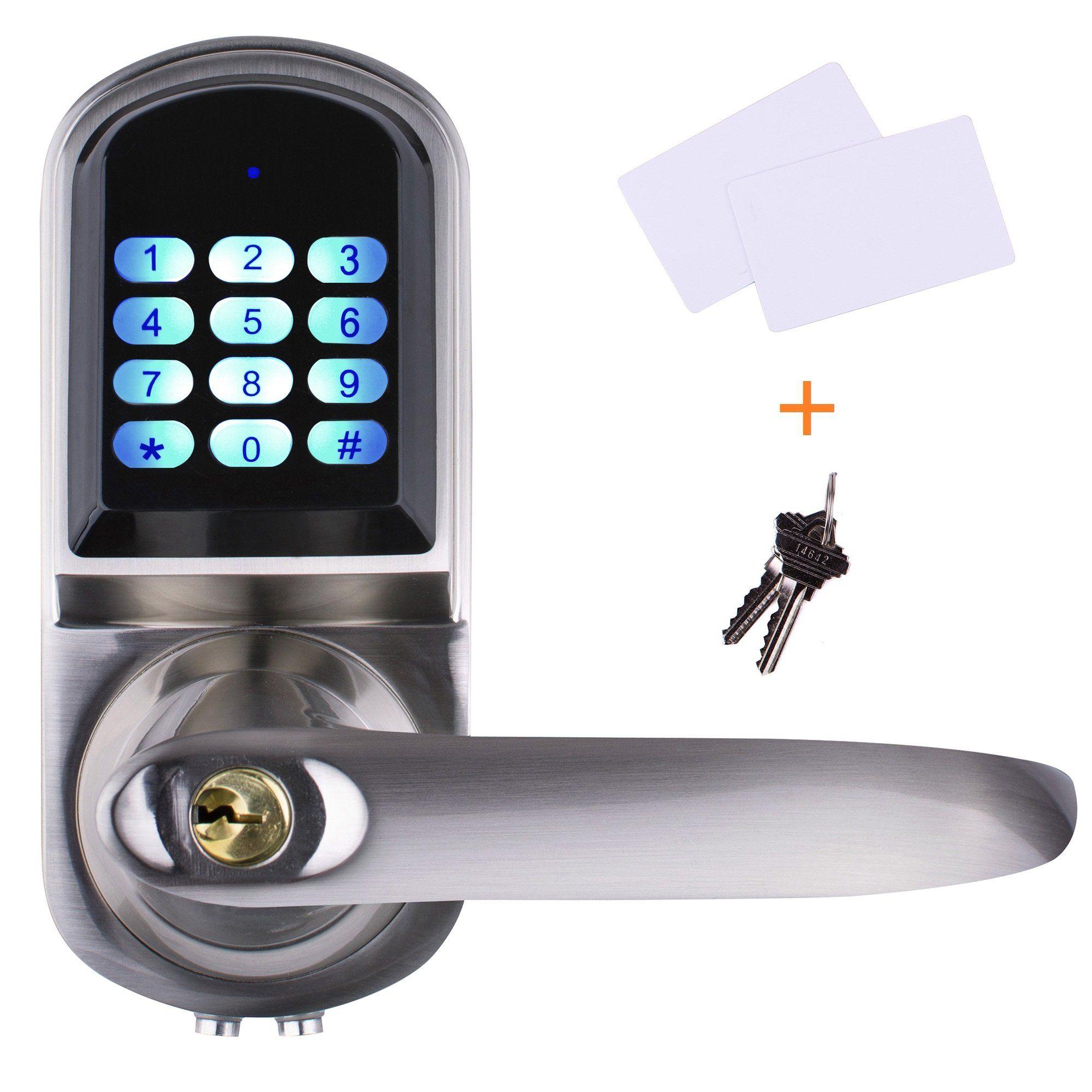 Ezlock Elc01 4 In 1 Electronic Keyless Backlit Keypad Door