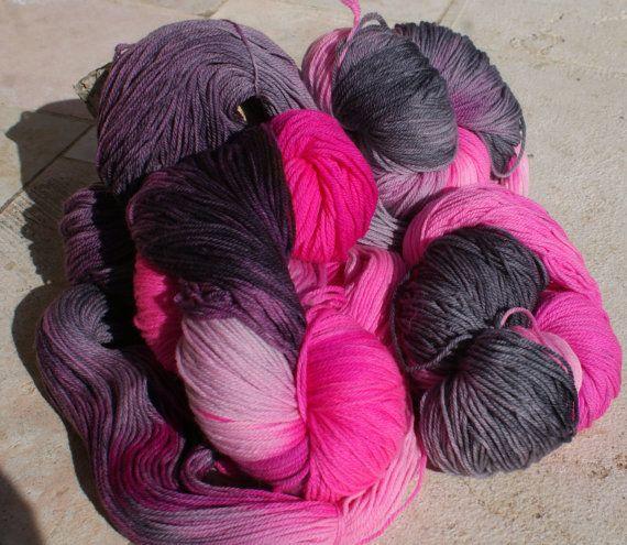 Hand dyed Merino Sock wool superwash Yarn  by WoolyRhinoceros, $14.00