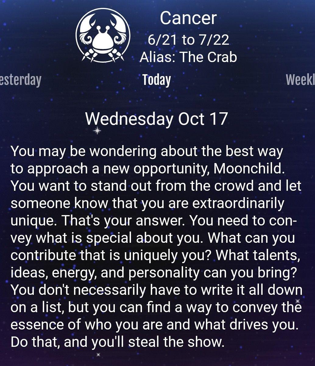 More Horoscopes for Cancer