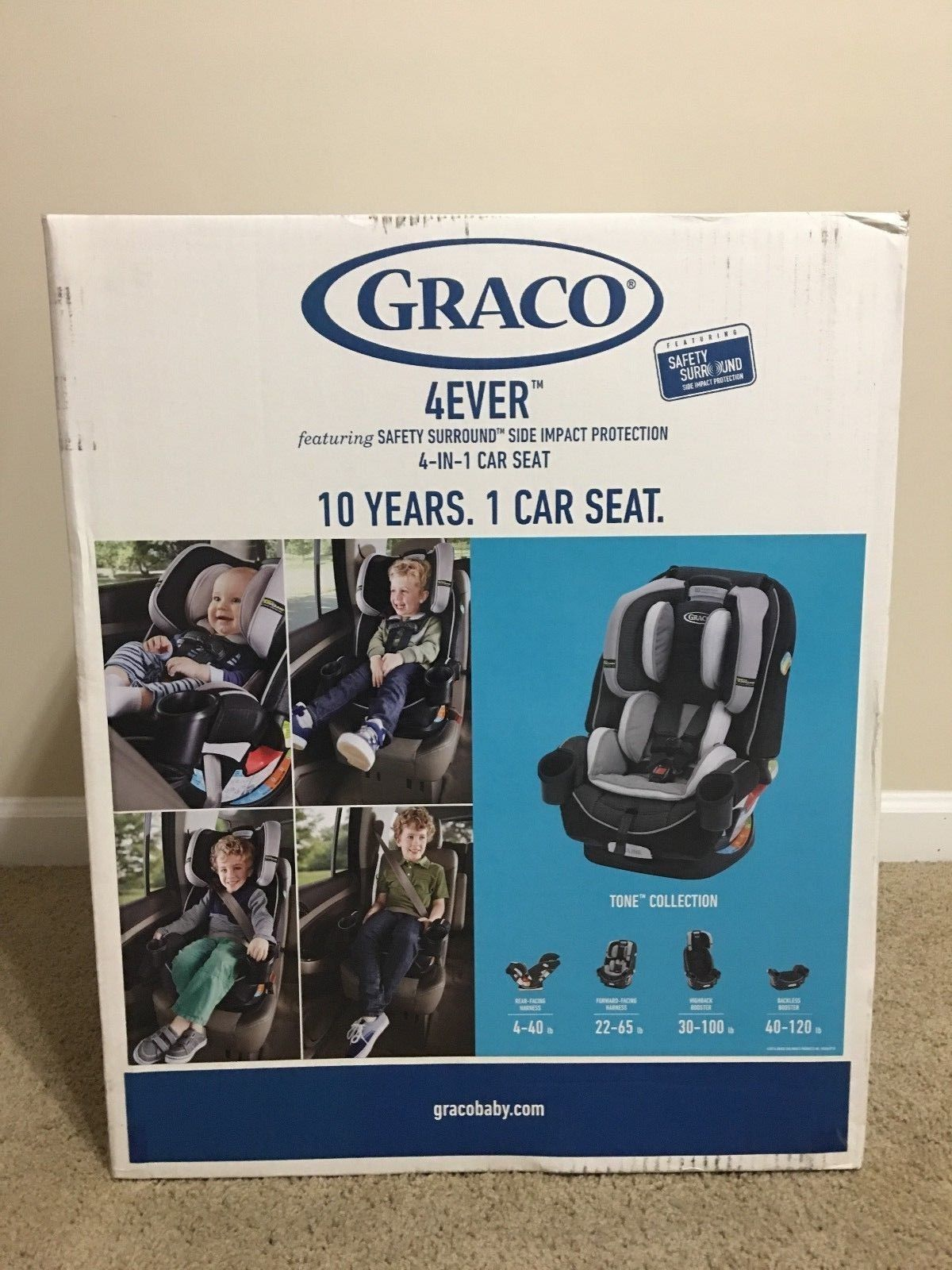 New Graco 4Ever AllInOne Convertible Car Seat SAFETY