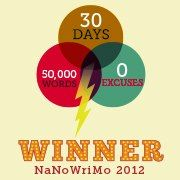 First time to try NaNoWriMo. 50K- word novel in 30 days. Fun but very challenging. Maybe next year I'll go for 75K -- Who knows? Maybe I'll go for even 100K! Every writer should go for this at least once.