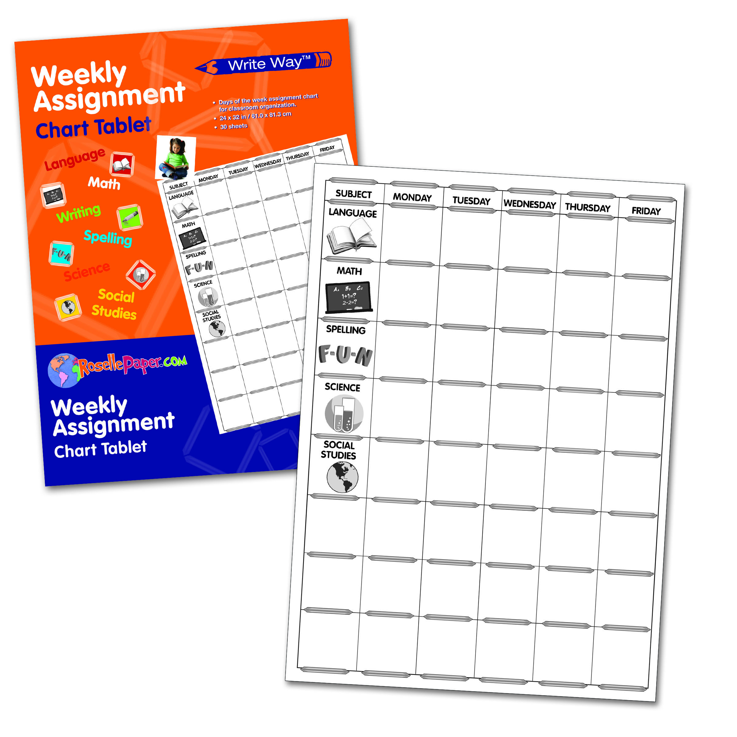 Weekly Assignment Chart Sellepaper For Free