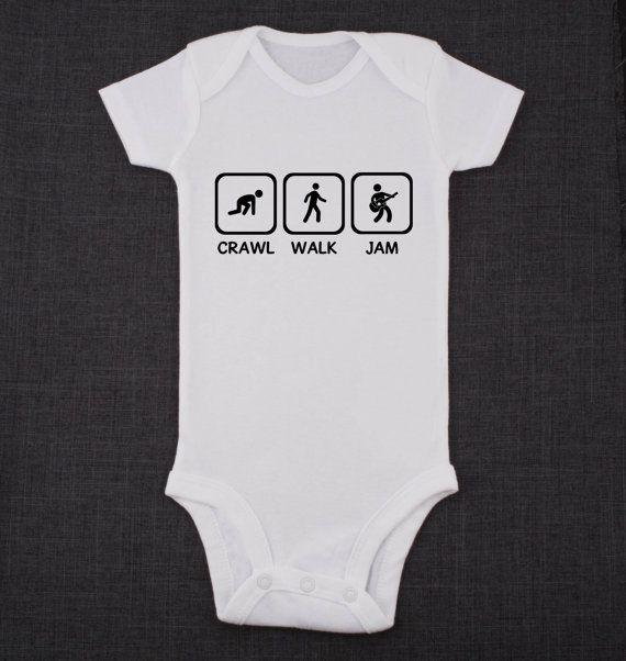 Crawl Walk Jam Guitar Onesies 174 Brand Bodysuits Baby