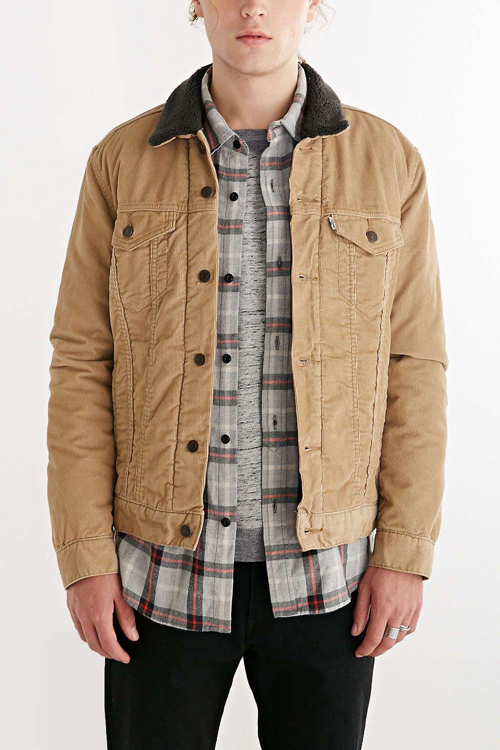 Levi\'s Chino Sherpa Trucker Jacket   Jackets   Pinterest   Chinos
