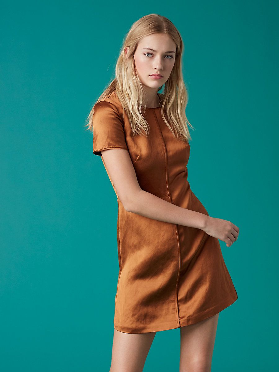 Short sleeve crew neck dress in kola arizona dresses pinterest