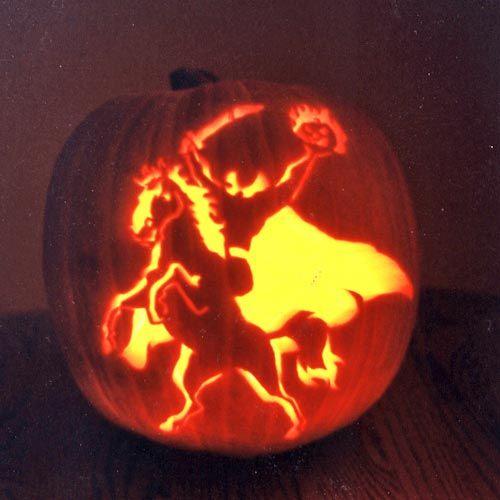 Headless Horseman Pumpkin Pumpkin Carving Pumpkin Pumpkin Carving Patterns