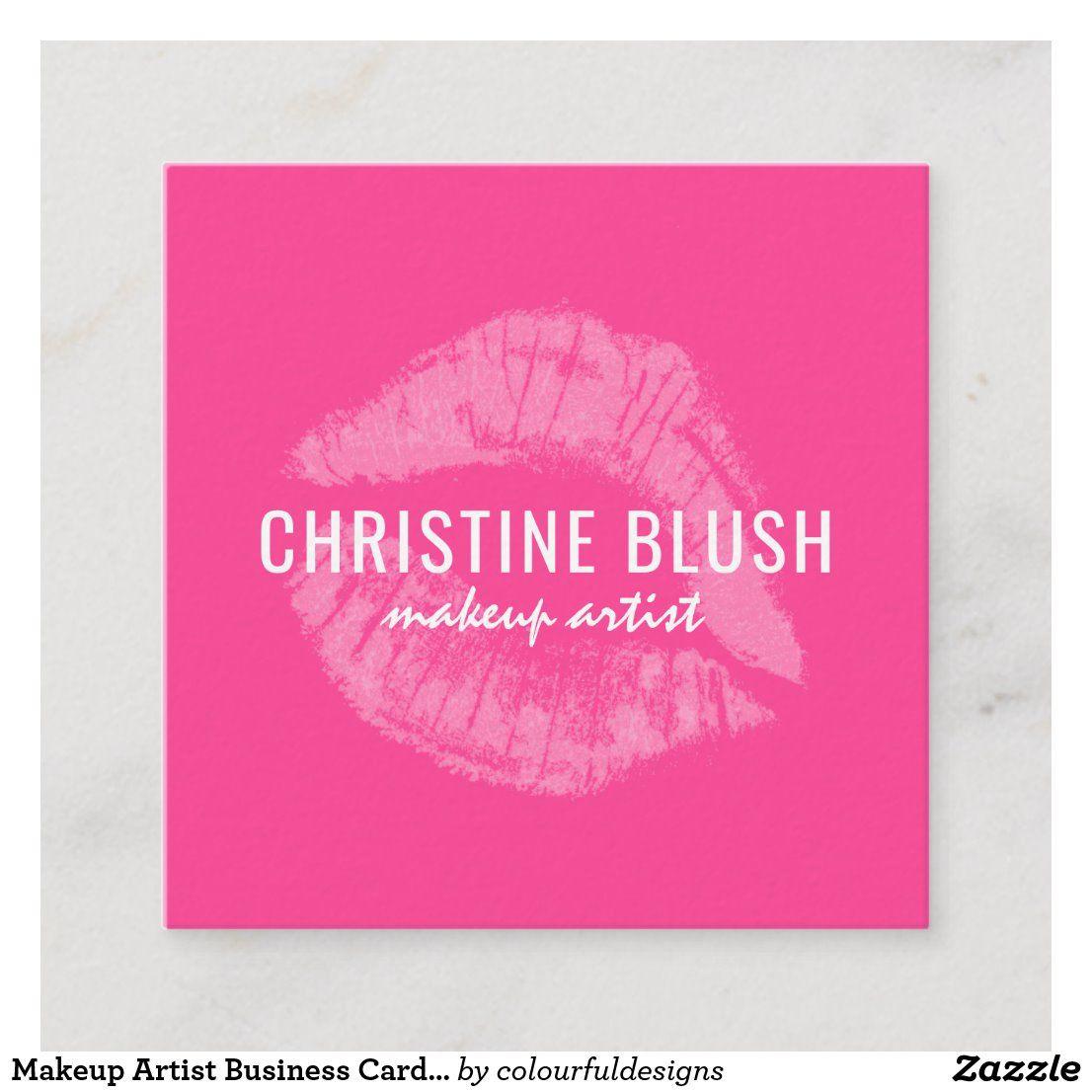 Makeup Artist Business Card Template Zazzle Com Makeup Artist Business Cards Makeup Artist Business Cards Templates Makeup Artist Business