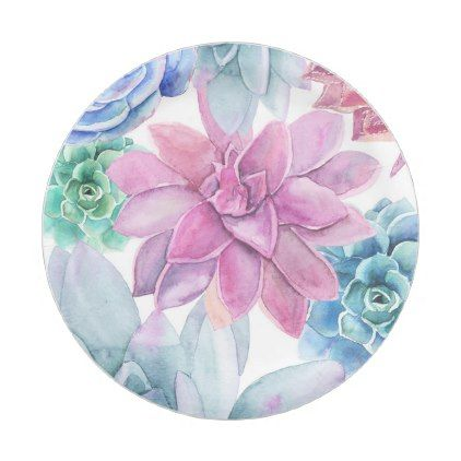 Succulents Modern Chic Marble Bridal Shower Fiesta Paper Plate - #customize create your own personalize  sc 1 st  Pinterest & Succulents Modern Chic Marble Bridal Shower Fiesta Paper Plate ...