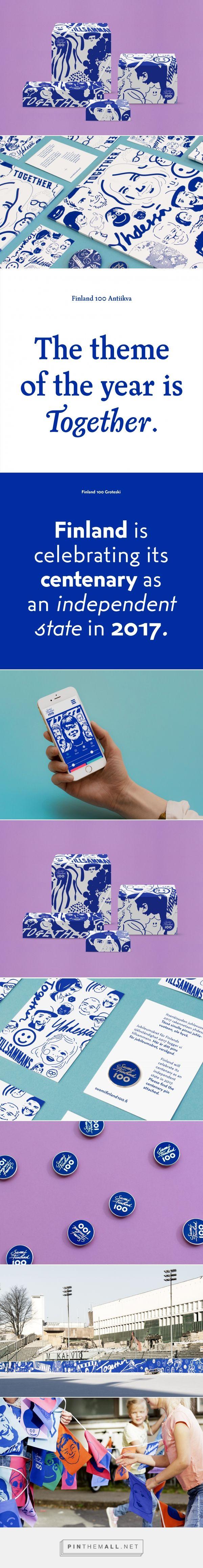 New Brand Identity for Finland 100 by Kokoro & Moi — BP&O - created via https://pinthemall.net