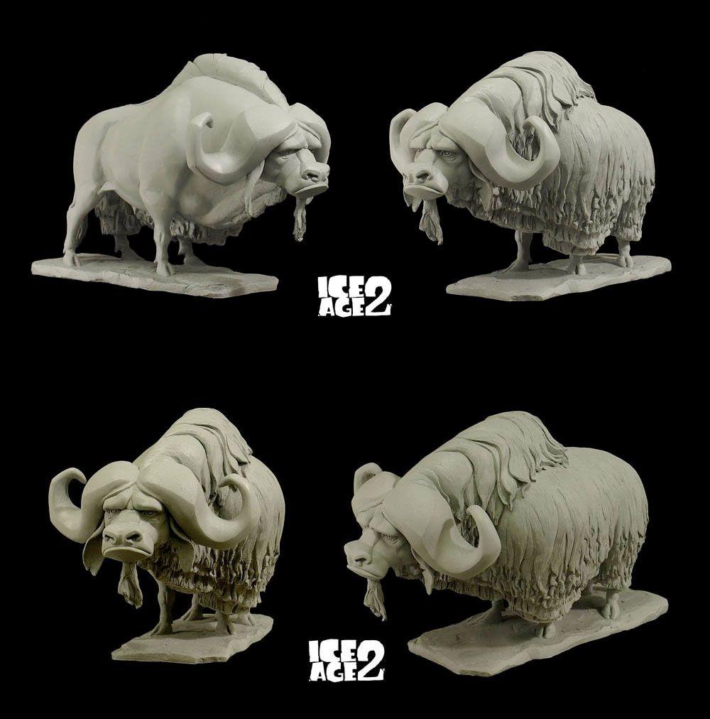 Character Design - Creatures - buffalo AndreasBlasich-Sculpts-5 ...