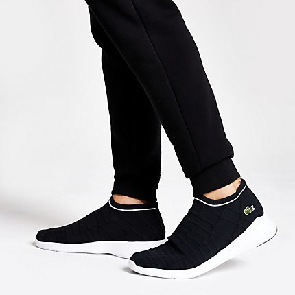 Mens Lacoste Black sock trainers (With