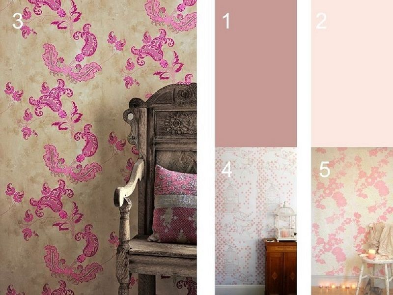 Pink wall decoration by Homegirl London