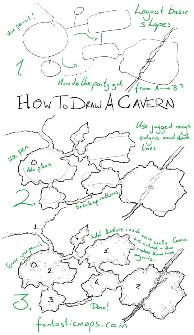 How To Draw A Cave Cartography Pinterest Fantasy Map Making