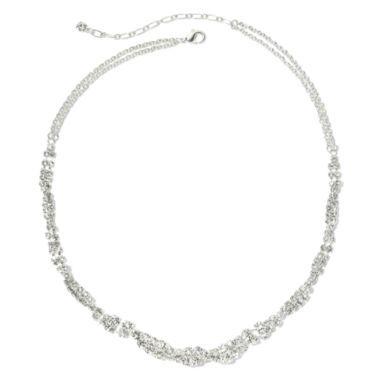 Vieste Rosa Vieste Silver-Tone & Rhinestone Graduated Y Necklace rDXhU1hx