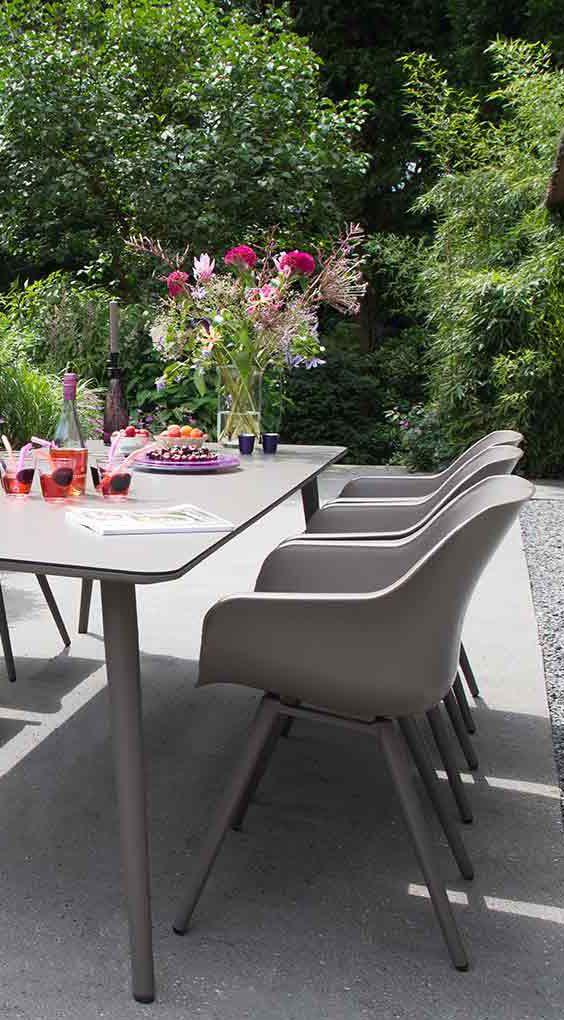 Moderne Gartenstühle hartman studio diningsessel aluminium kunststoff outdoor