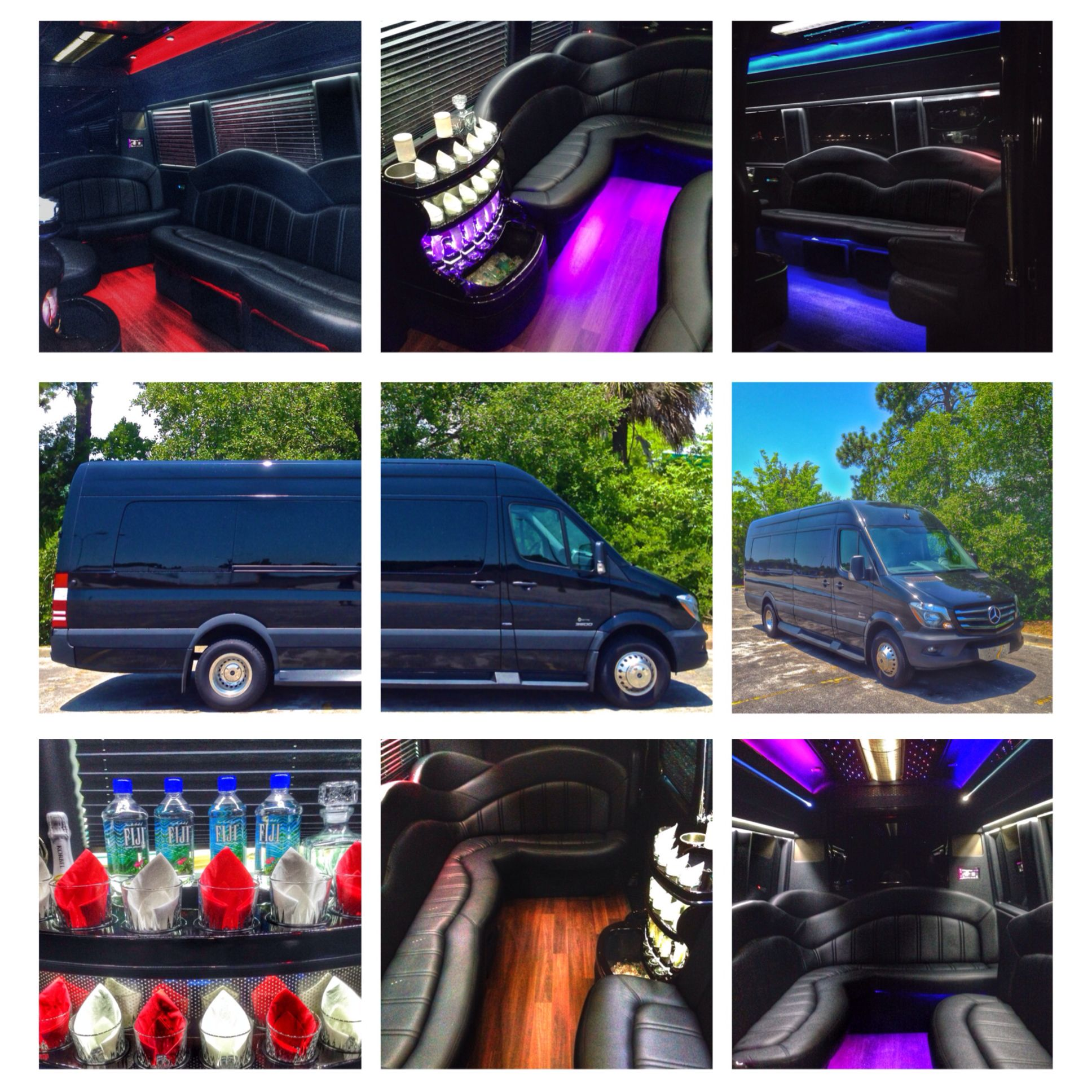Carolina's Executive Limo Line offers the 2014 Mercedes Executive Limo Bus. The most high-end luxury limo bus in the Charleston area!