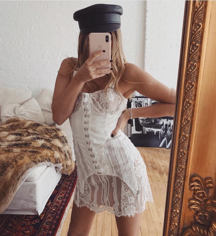 The Alexandria Mini Dress from @forloveandlemons via For