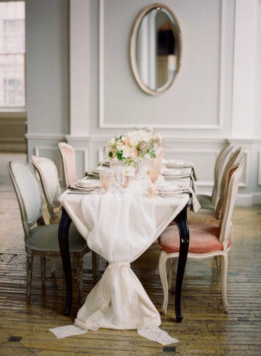 Elegant And Simple Mixed Dining Chairs Diy Table Runner Wedding Home