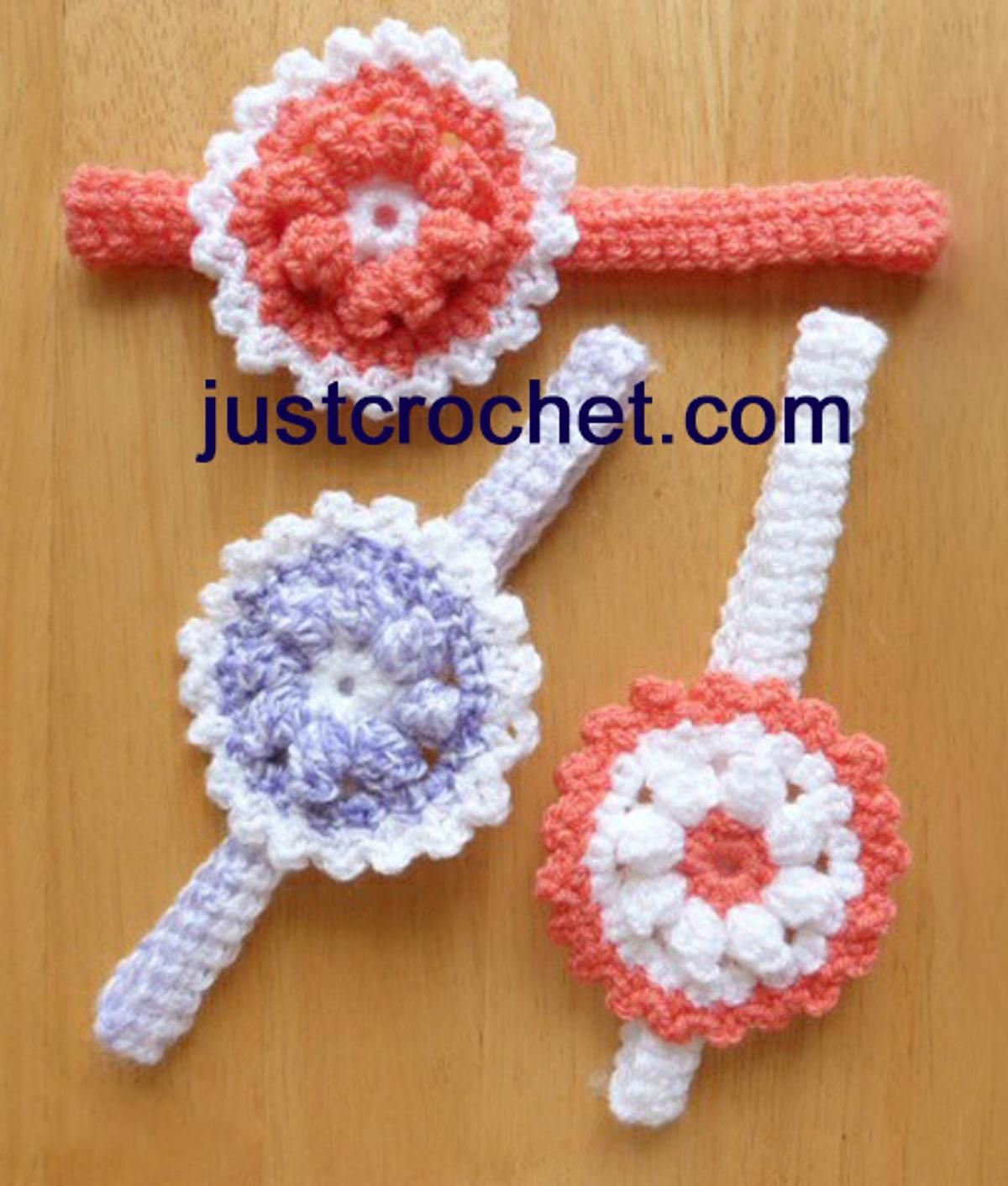 fjc123-Headband with Flower Baby Crochet Pattern | Craftsy ...