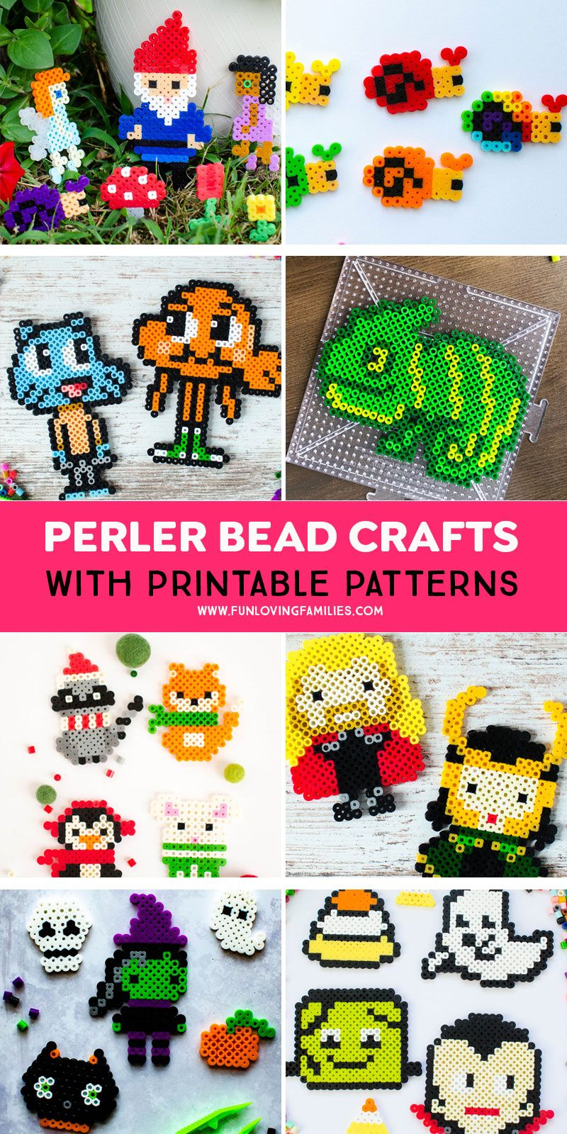 Free Perler Bead Patterns : perler, patterns, Perler, Patterns, Craft, Ideas, Loving, Families, Patterns,, Pearl, Beads, Pattern