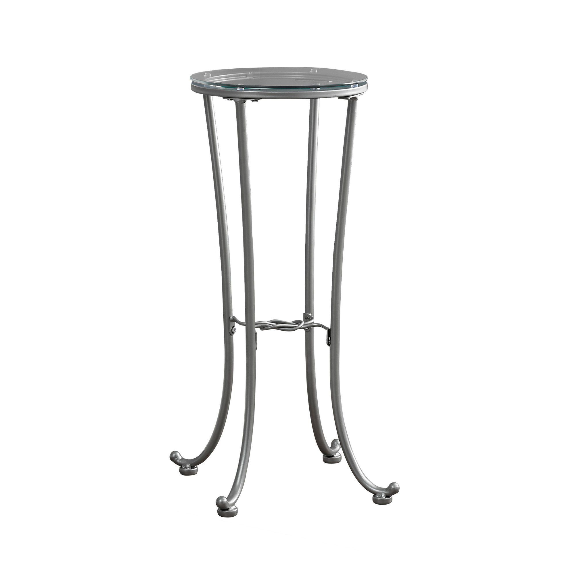 Accent Table Silver Metal With Tempered Glass I 3333 Metal Accent Table Metal Table