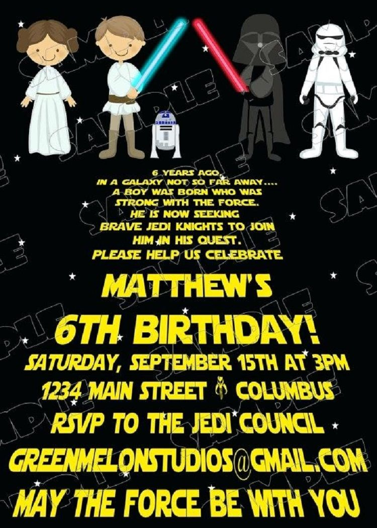 picture about Printable Star Wars Birthday Invitations titled star wars birthday invites no cost Invitation Recommendations inside of