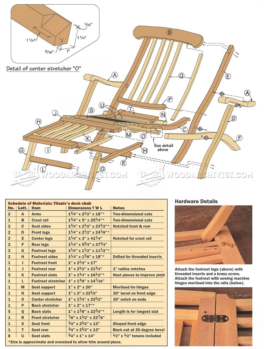 titanic deck chair plans outdoor furniture plans woodworking