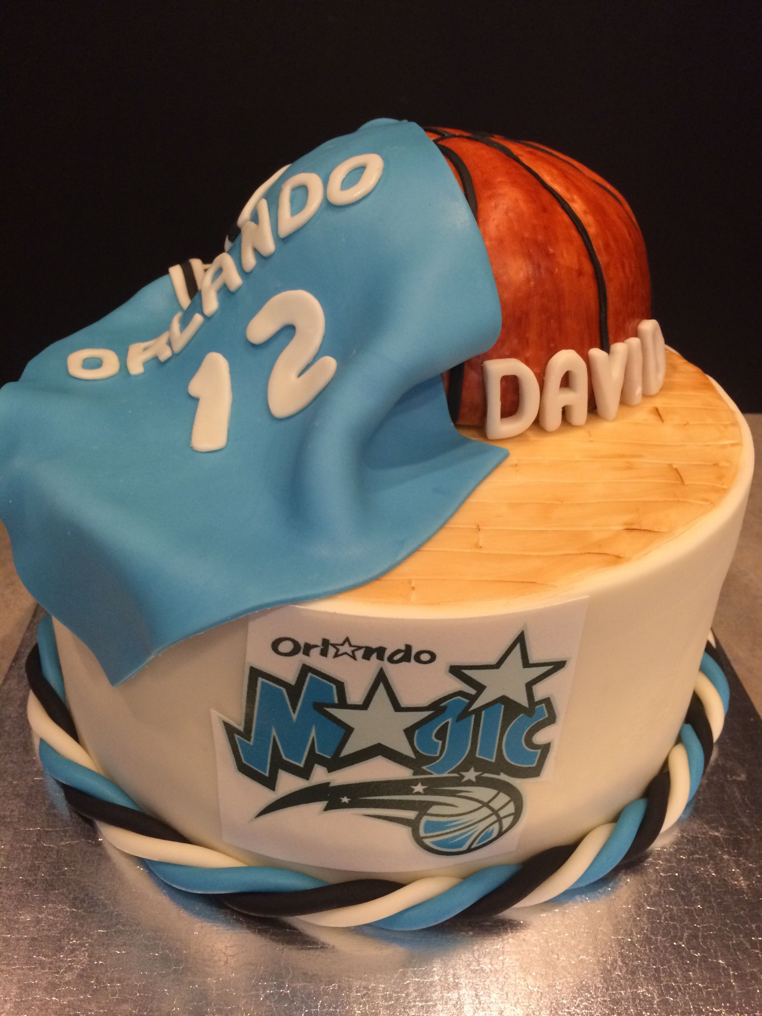 Surprising Orlando Magic Birthday Cake Magic Birthday Fondant Cakes Personalised Birthday Cards Beptaeletsinfo
