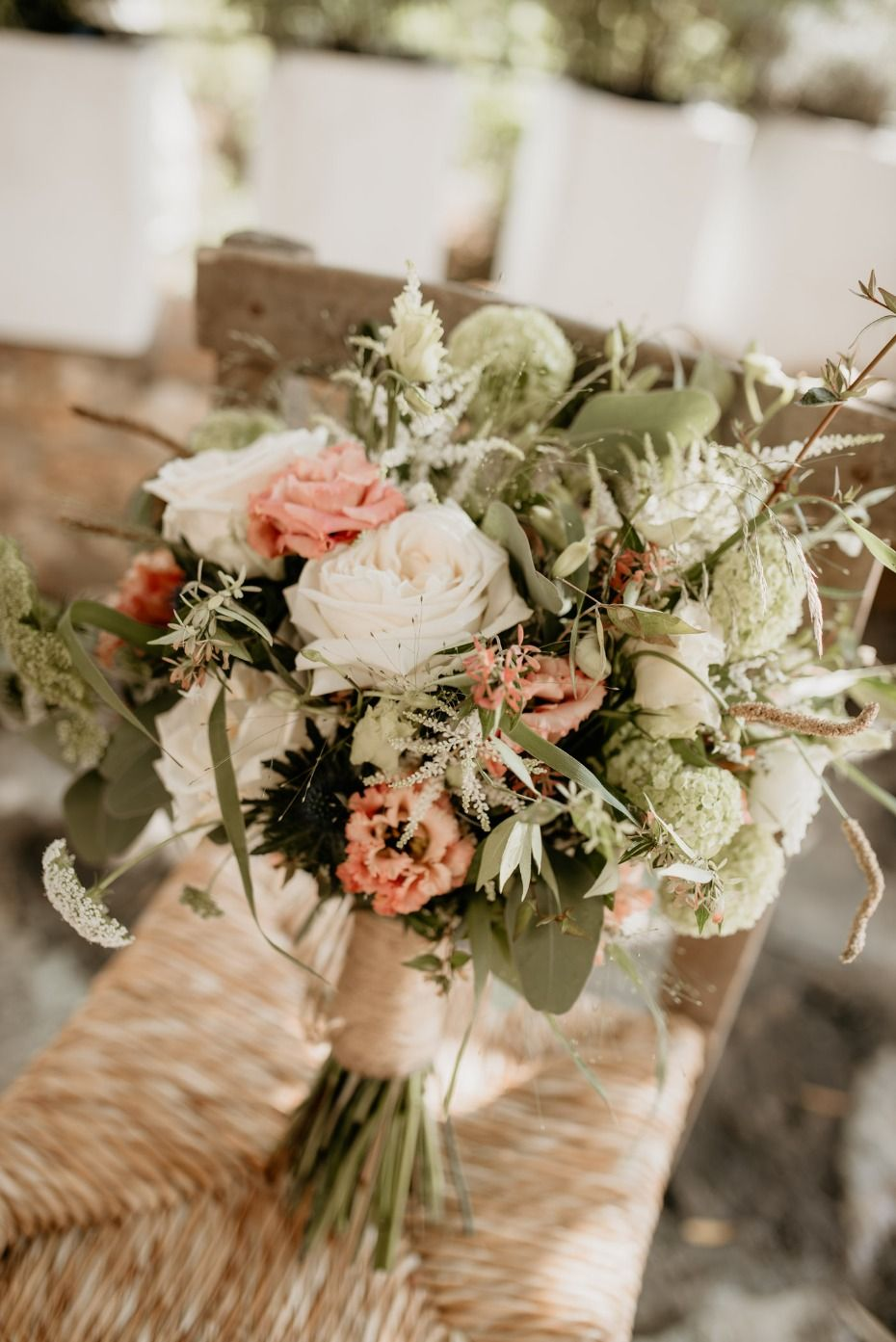 Natural And Rustic Outdoor Wedding On The Island Of Crete Rustic Wedding Flowers Rustic Wedding Bouquet Rustic Bouquet