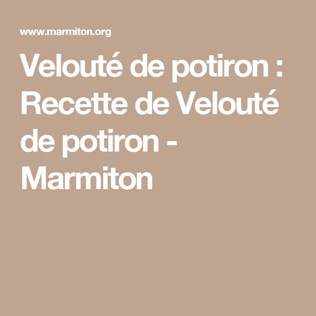 Velouté de potiron : Recette de Velouté de potiron - Marmiton