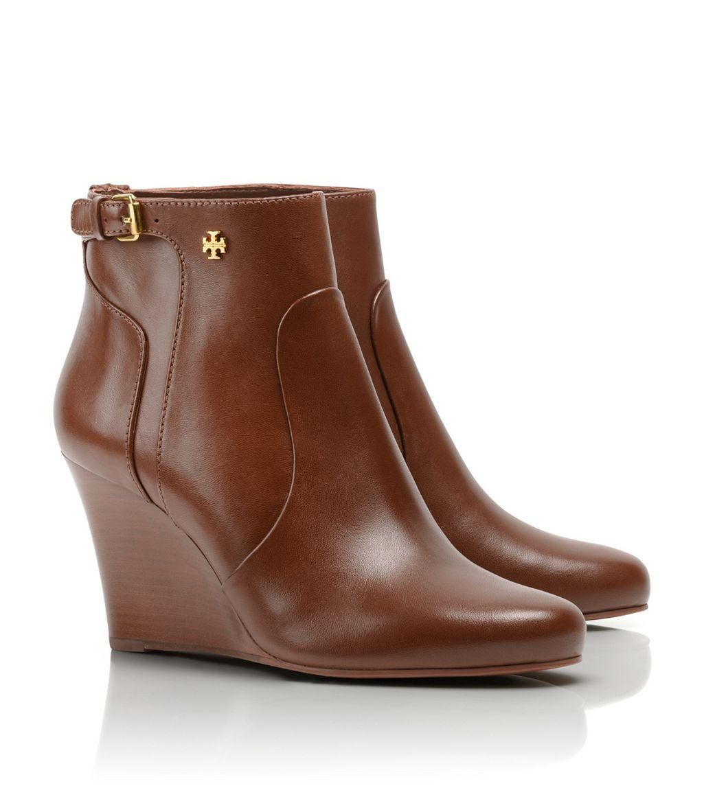 cheapest Tory Burch Leather Wedge Booies in China for sale largest supplier AFC5JT