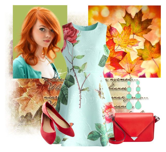 """""""Glorious Redheads"""" by najoli ❤ liked on Polyvore featuring mode, Chicwish, Wet Seal en Alexander Wang"""
