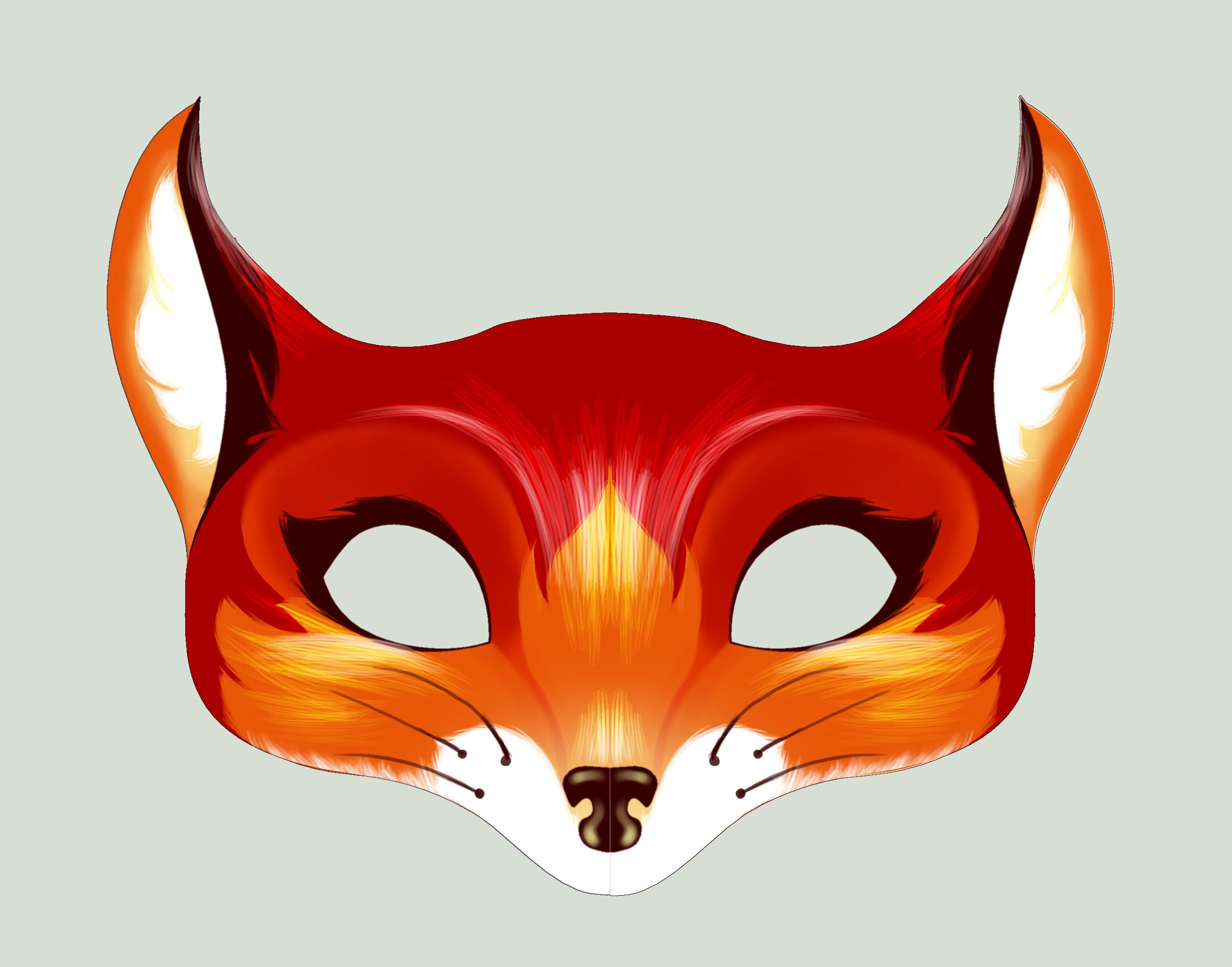 picture relating to Printable Fox Masks titled fox mask - Google Look Halflings Masquerade Felt mask