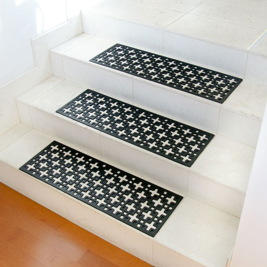Artistic Stairs Canada: Baynes Modern Design Non-Slip Rubber Backed Grey Stair
