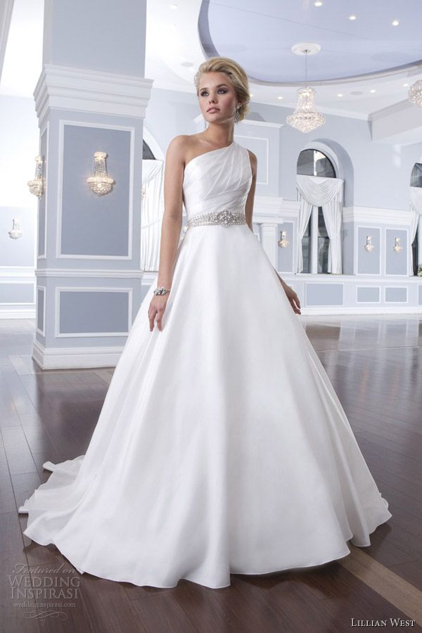 One Shoulder Dresses 2014 Brides
