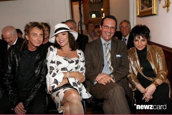 Barry Manilow Joan Collins Percy Gibson Henry Winkler And Liza Minnelli Attend