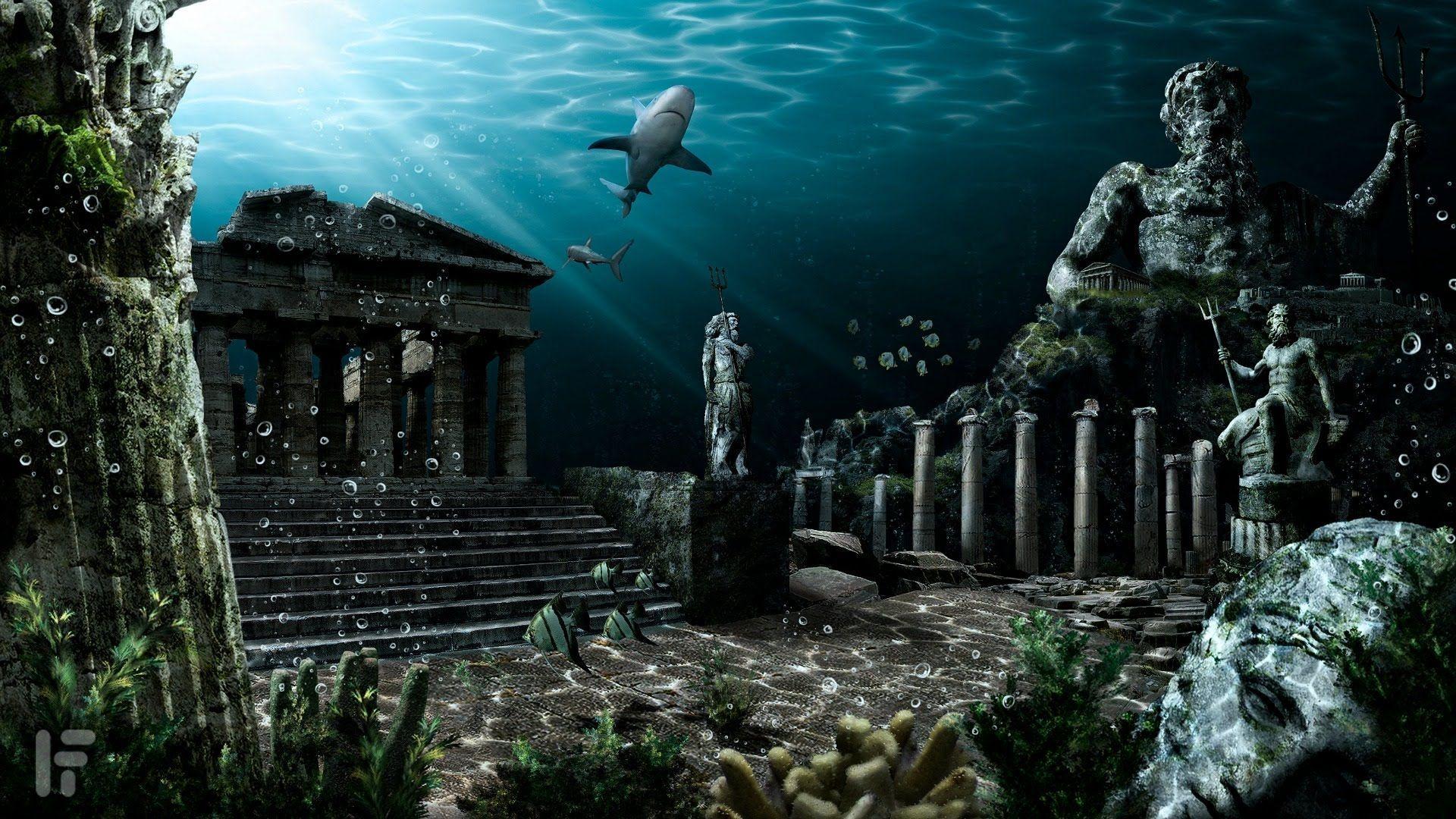 70 Atlantis Underwater Wallpapers Download At Wallpaperbro Lost City Of Atlantis Atlantis The Lost Empire Underwater City