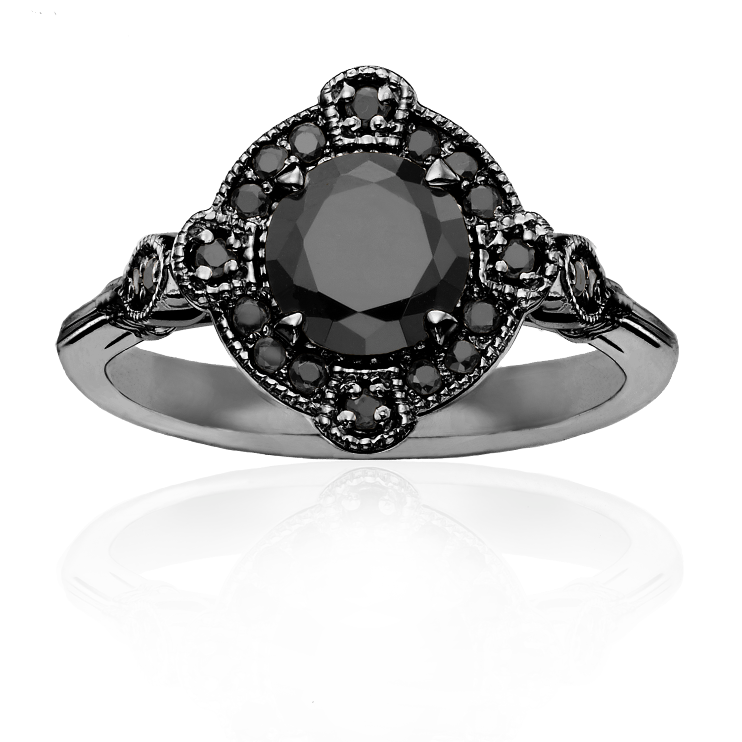 NEW GM Blk Dia Eng Ring