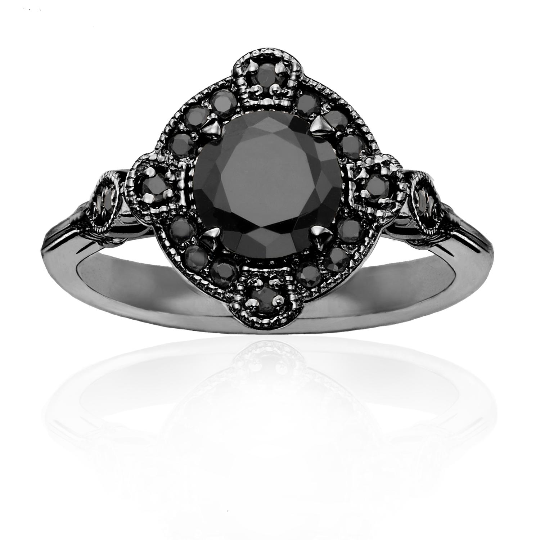 Deco Black Diamond Ring
