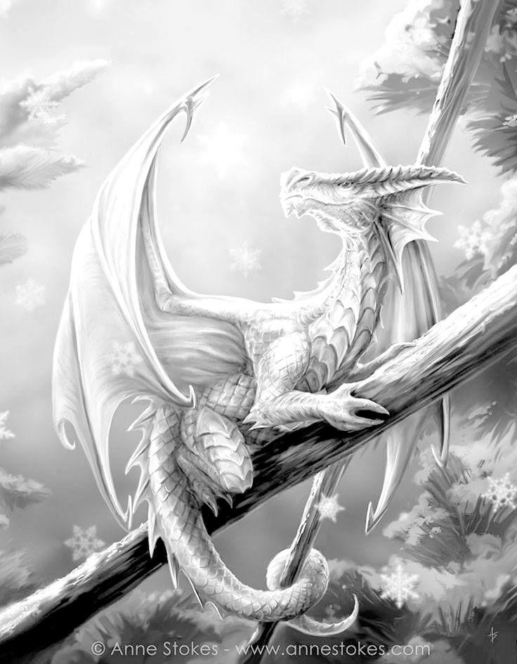 Pin By Diana W On Nieuwe Kleurplaten Fantasy Dragon Dragon Pictures Snow Dragon