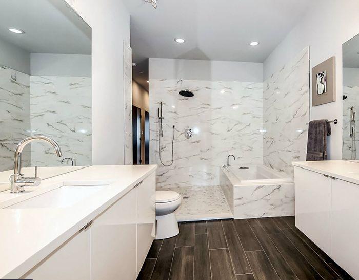 Porcelanosa usa cararra brillo rectified porcelain tile for Porcelanosa bathroom floor tiles