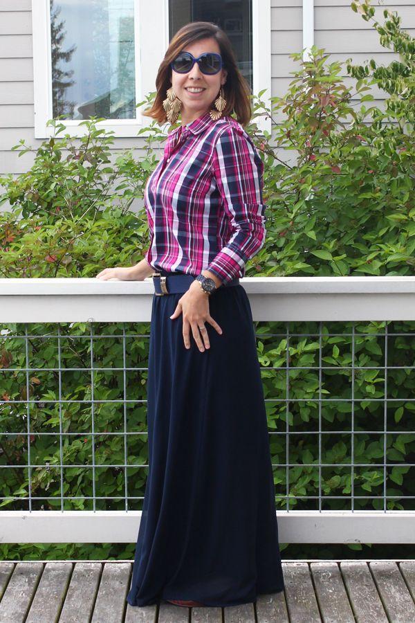 Xadrez: estampa atemporal, clássica da moda! Com saia longa quebra a pegada roqueira/cowgirl