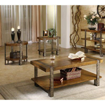 Riverside Sierra Rectangular 3 Piece Coffee Table Set Rvs1842 1 Durable Living Room Table Sets Living Room Coffee Table Coffee Table Piece living room table set