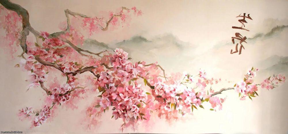 цветение сакуры в живописи - Поиск в Google   Картины ...