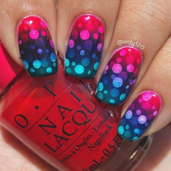 Super cool ombré gradient nail art ideas