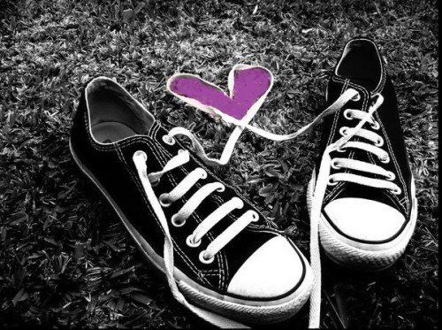 Black And White Photography With Color Splash Converse