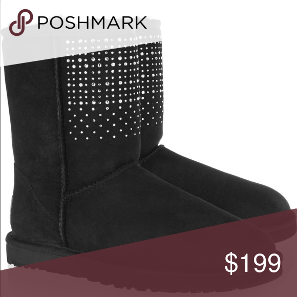 1979175049f UGG BOOTS classic short bling Swarovski crystals Women's size 8 ...